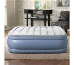 Beautyrest Air Mattresses beautyrest queen size plushaire express air bed with hands free pump