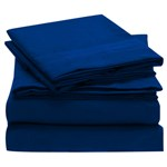 Simmons Mellanni Twin Imperial Blue Bed Sheet Set Mellanni Bed Sheet S
