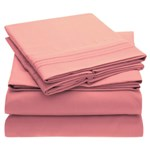 Simmons Mellanni Full Pink Bed Sheet Set Mellanni Bed Sheet Set 434228-5