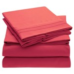 Simmons Mellanni Full Hot Pink Bed Sheet Set Mellanni Bed Sheet Set 434252-5