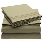 Simmons Mellanni Full Olive Green Bed Sheet Set Mellanni Bed Sheet Set 434263-5