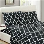 Simmons Mellanni Full Quatrefoil Black Bed Sheet Set Mellanni Bed Shee 434273-5