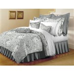 Simmons Mellanni King Paisley Gray Bed Sheet Set Mellanni Bed Sheet Se