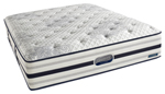"""""""River Lily Plush, Sleep in comfort with our Simmons BeautyRest World Class River Lily Plush Mattress which has AirCool&reg memory and gel foams to providing pressure relief and support"""