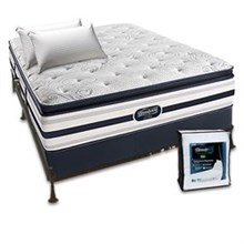 Recharge Ultra beautyrest recharge ultra fair lawn plush pillow top queen size mattress bundle